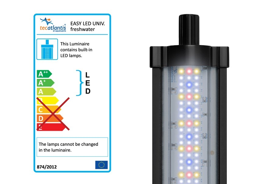 Plafoniera per acquario easy led universale 590mm 28watt