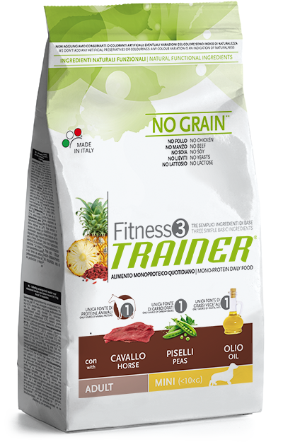 Trainer fitness adult mini con cavallo piselli e olio 2kg