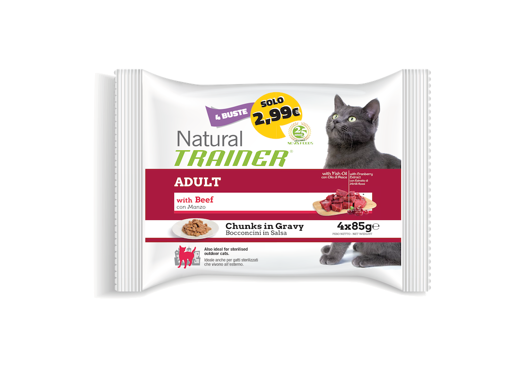Multipack Natural Trainer 4x85grammi per gatti