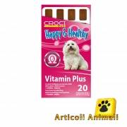 Snack per cane happy healthy vitamin plus 20pz zero glutine zero zuccheri