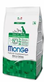 Crocchette Monge Maxi Puppy e Junior 12kg Natural Superpremium