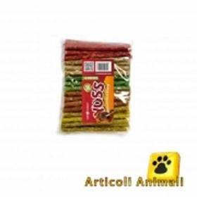 Osso bufalo cane stick colorati 50 pz 12.5 cm 9 mm