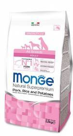 Crocchette Monge Adult 12kg Natural Superpremium al Maiale