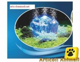 Kit areatore acquario + cristallo + led blu hydor
