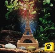 Decorazione acquario tour eiffel + ariocolor mix